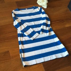 SALE J.Crew Blue and White Striped Dress